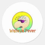 WALLEYE FEVER ROUND STICKER
