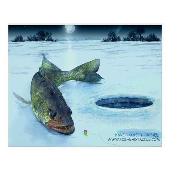 walleye ice poster