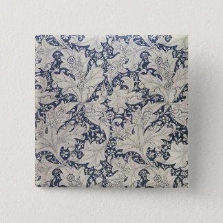 Wallflower' design 15 cm square badge