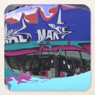 Wallies Square Paper Coaster