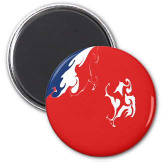 Wallis and Futuna Gnarly Flag 6 Cm Round Magnet