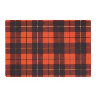 Wallis clan Plaid Scottish tartan Laminated Place Mat