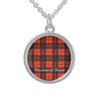 Wallis clan Plaid Scottish tartan Sterling Silver Necklace