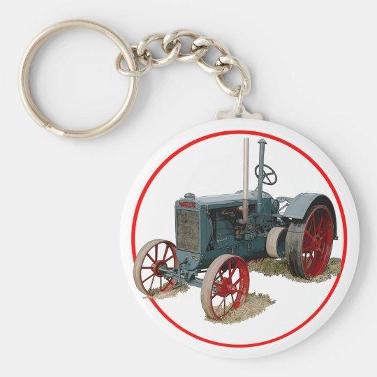 Wallis Tractor Basic Round Button Key Ring