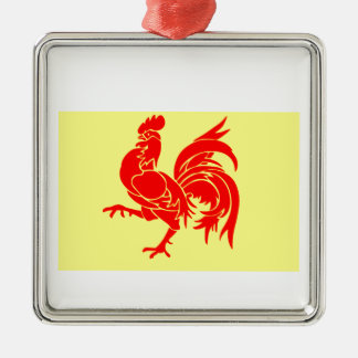 Wallon Rooster Christmas Ornament