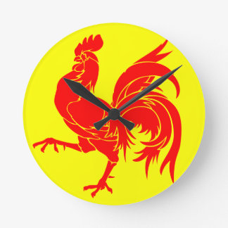 WALLONIA ~ Belgique Round Clock