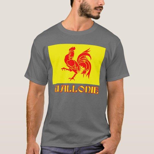 Walloon Region Flag wtih Name T-Shirt