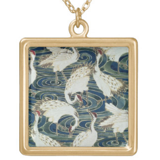 Wallpaper design, by the Silver Studio, c.1890 Gold Plated Necklace
