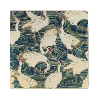 Wallpaper design, by the Silver Studio, c.1890 Wood Coaster