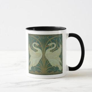 """Wallpaper Design for panel of """"Swan, Rush & Iris"""" Mug"""