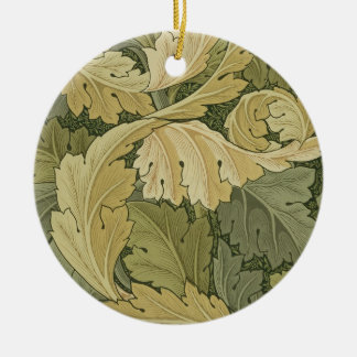 Wallpaper Design with Acanthus/Woodland colours, 1 Christmas Ornament