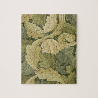 Wallpaper Design with Acanthus/Woodland colours, 1 Jigsaw Puzzle