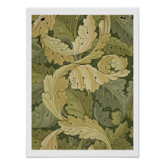 Wallpaper Design with Acanthus/Woodland colours, 1 Poster