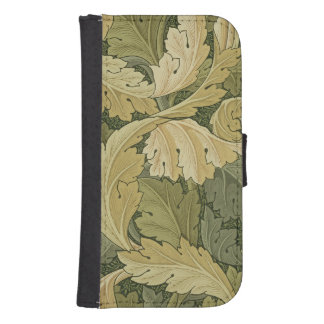 Wallpaper Design with Acanthus/Woodland colours, 1 Samsung S4 Wallet Case