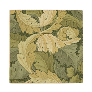 Wallpaper Design with Acanthus/Woodland colours, 1 Wood Coaster