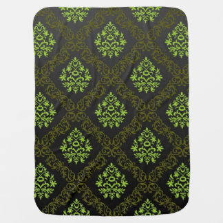 Wallpaper Floral Green Baby Blanket