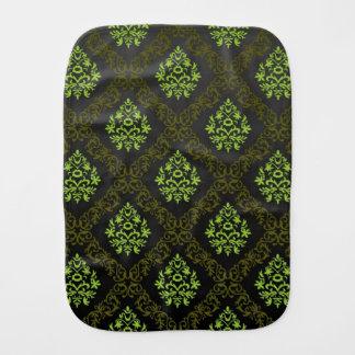 Wallpaper Floral Green Burp Cloth