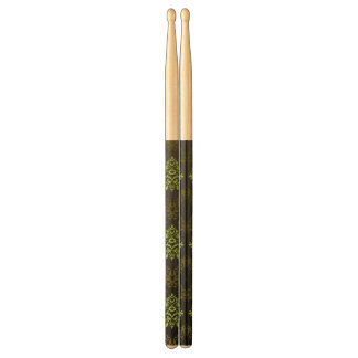 Wallpaper Floral Green Drumsticks