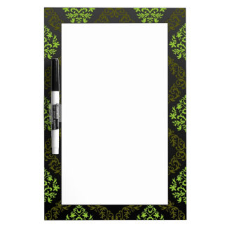 Wallpaper Floral Green Dry Erase Board