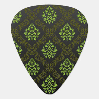 Wallpaper Floral Green Guitar Pick