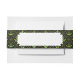 Wallpaper Floral Green Invitation Belly Band
