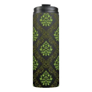 Wallpaper Floral Green Thermal Tumbler