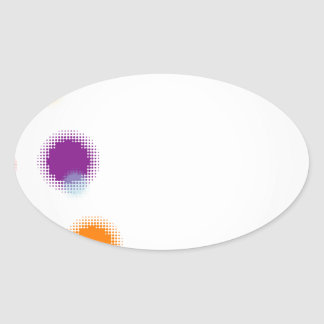 Wallpaper with halftone oval stickers