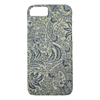 Wallpaper with navy blue seaweed style design iPhone 7 case