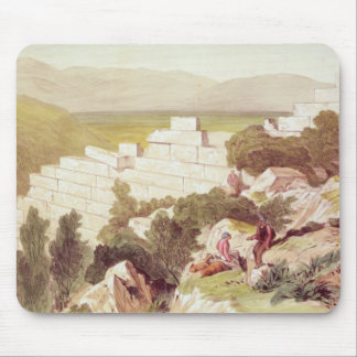 Walls of Ancient Samos, Cephalonia, 19th century Mouse Pad