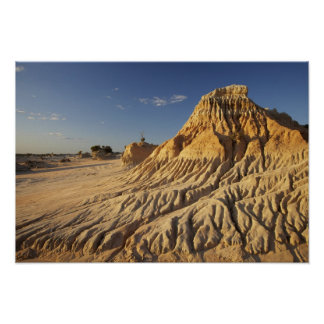 Walls of China Formations, Mungo National Poster