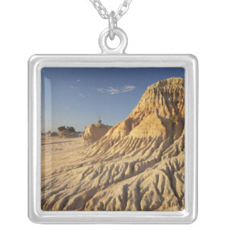 Walls of China Formations, Mungo National Silver Plated Necklace