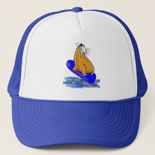 Wally The Walrus Goes Surfing Cap