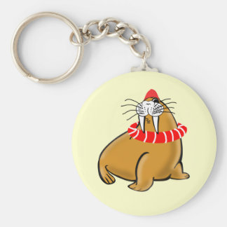 Wally The Walrus Goes Swimming Key Ring