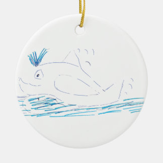 Wally Whale Christmas Round Decoration