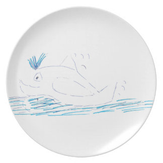 Wally Whale Dinner Plate
