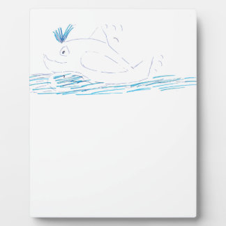 Wally Whale Photo Plaque