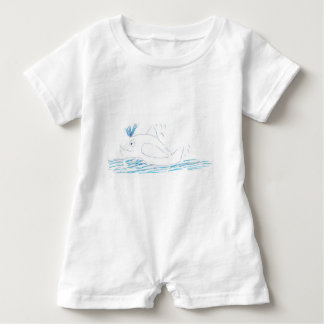 Wally Whale Romper Suit Baby Bodysuit