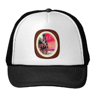Walnut Carved Wood Frame Trucker Hats