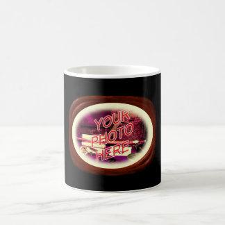 Walnut Carved Wood Frame Coffee Mug