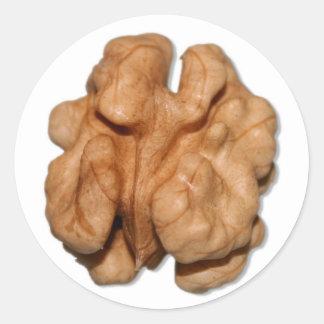 Walnut Classic Round Sticker