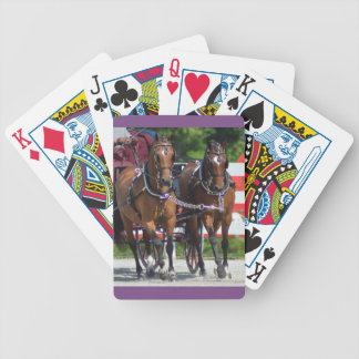 walnut hill carriage driving horse show bicycle playing cards