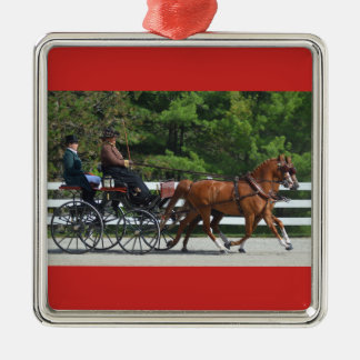 walnut hill carriage driving horse show christmas ornament