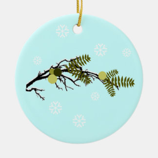 Walnut Hills Double-Sided Ceramic Round Christmas Ornament