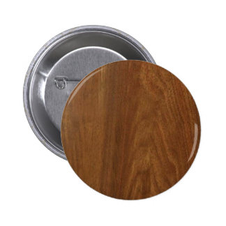 WALNUT WOOD American finish  blank blanche + TEXT 6 Cm Round Badge