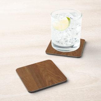 WALNUT WOOD American finish  blank blanche + TEXT Coaster
