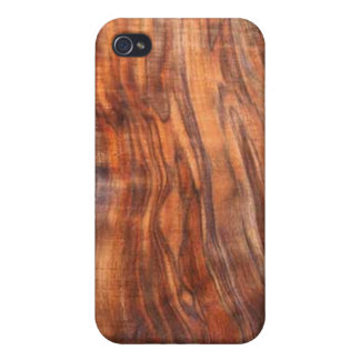 Walnut (wood)grain  cover for iPhone 4