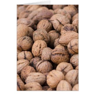 walnuts background card