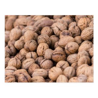 walnuts background postcard