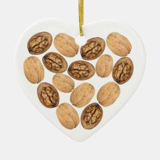 Walnuts! Ceramic Heart Decoration