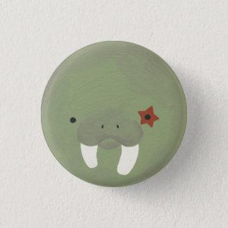 walrus 1 3 cm round badge